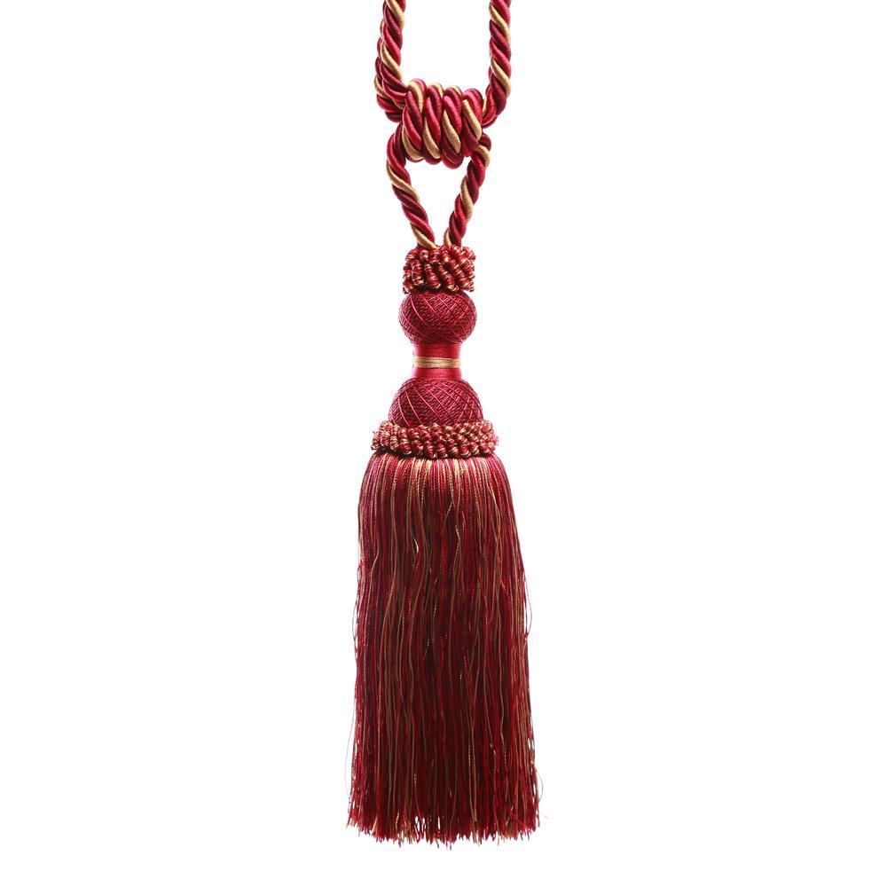 Handcrafted 32 in. L Wine Jane Tassel Curtain Tie backs (2-Pack)