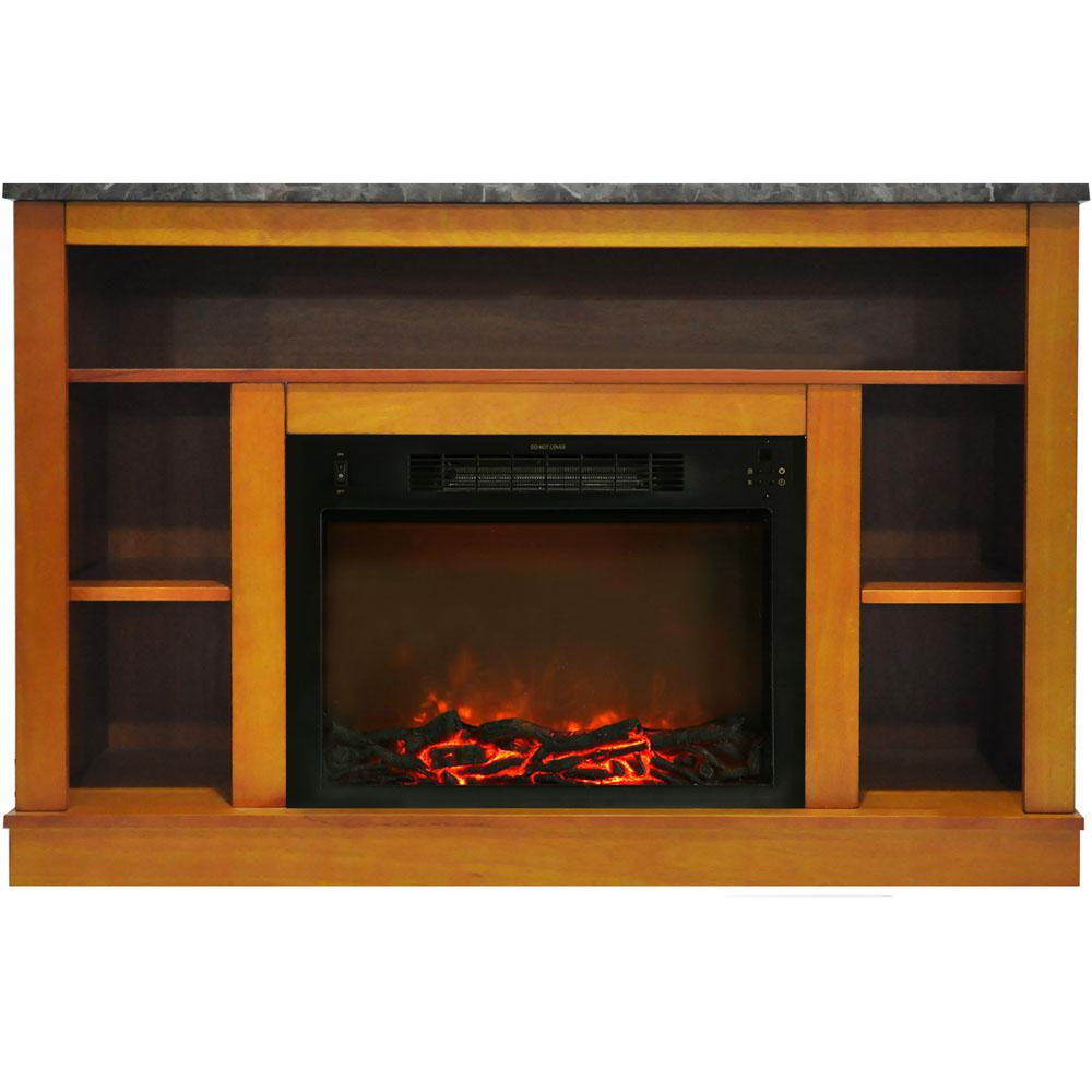 Oxford 47 in. Electric Fireplace with 1500-Watt Charred Log Insert and