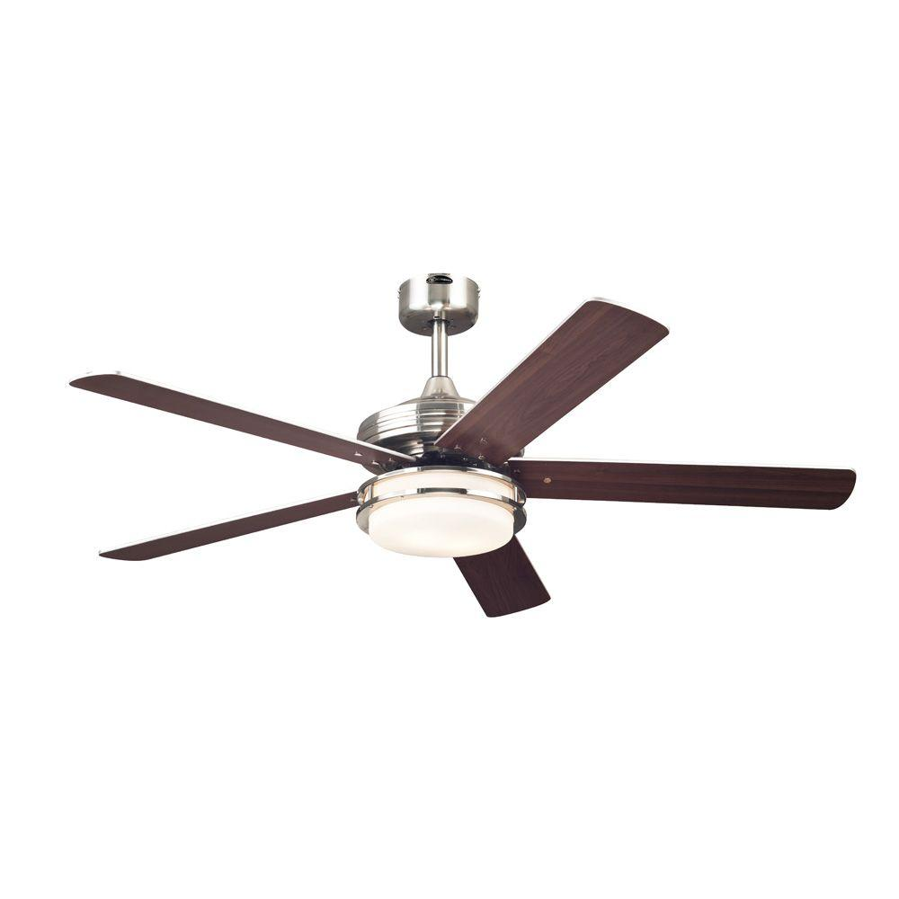 Westinghouse castle 52 in brushed nickel ceiling fan 7247700 westinghouse castle 52 in brushed nickel ceiling fan 7247700 the home depot aloadofball Images