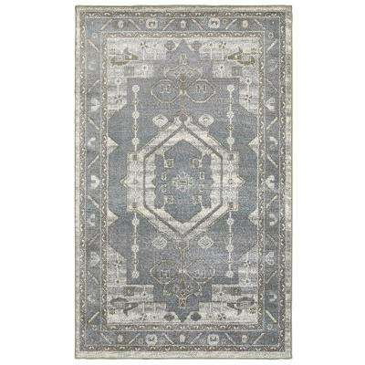 Matrix Frost Gray/Silver Rectangle 8 ft. x 9 ft. Indoor Area Rug