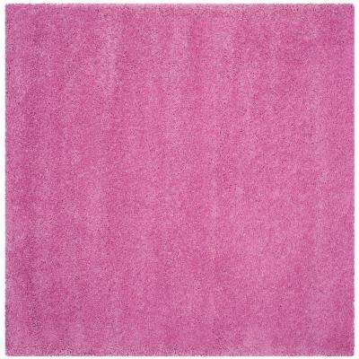 Santa Monica Shag Pink 6 ft. 7 in. x 6 ft. 7 in. Square Area Rug