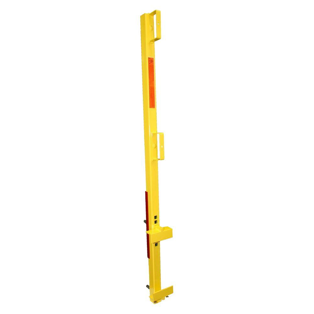 StringerShield 1 Unit Yellow OSHA Compliant Non-Penetrating Guardrail Clamp for Closed Edge Pan Stairs or Stringer Stairs