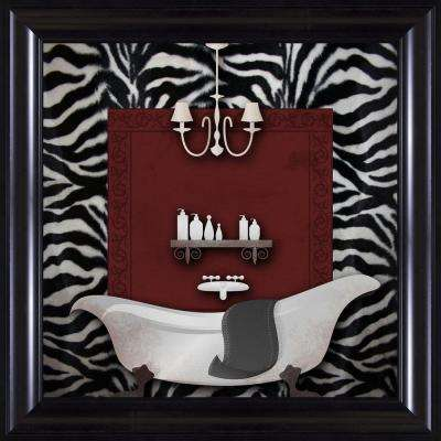 "15-1/4 in. x 15-1/4 in. ""Zebra Bath B"" Framed Wall Art"