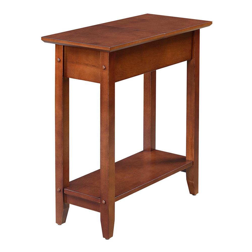 American Heritage Mahogany Flip Top End Table
