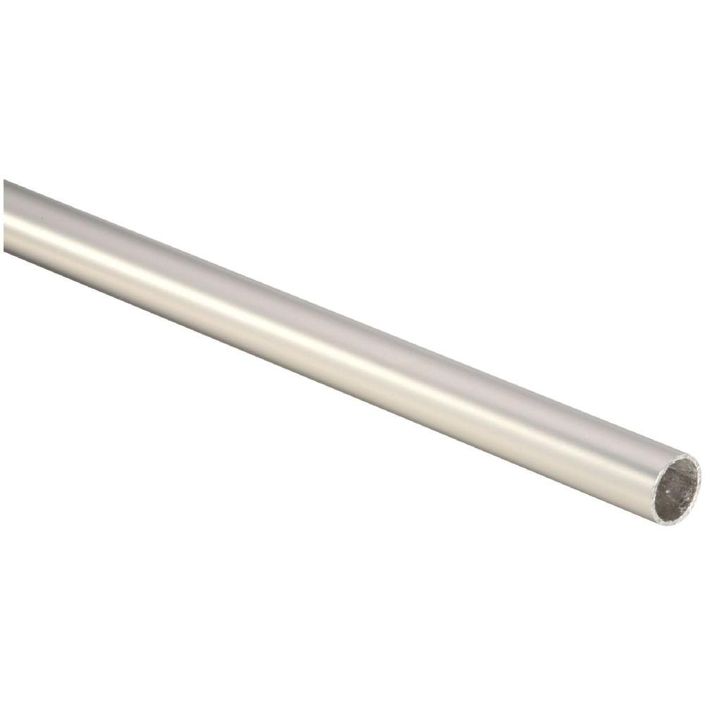 Stanley-National Hardware 4 ft. Heavy Duty Rod in Satin Nickel