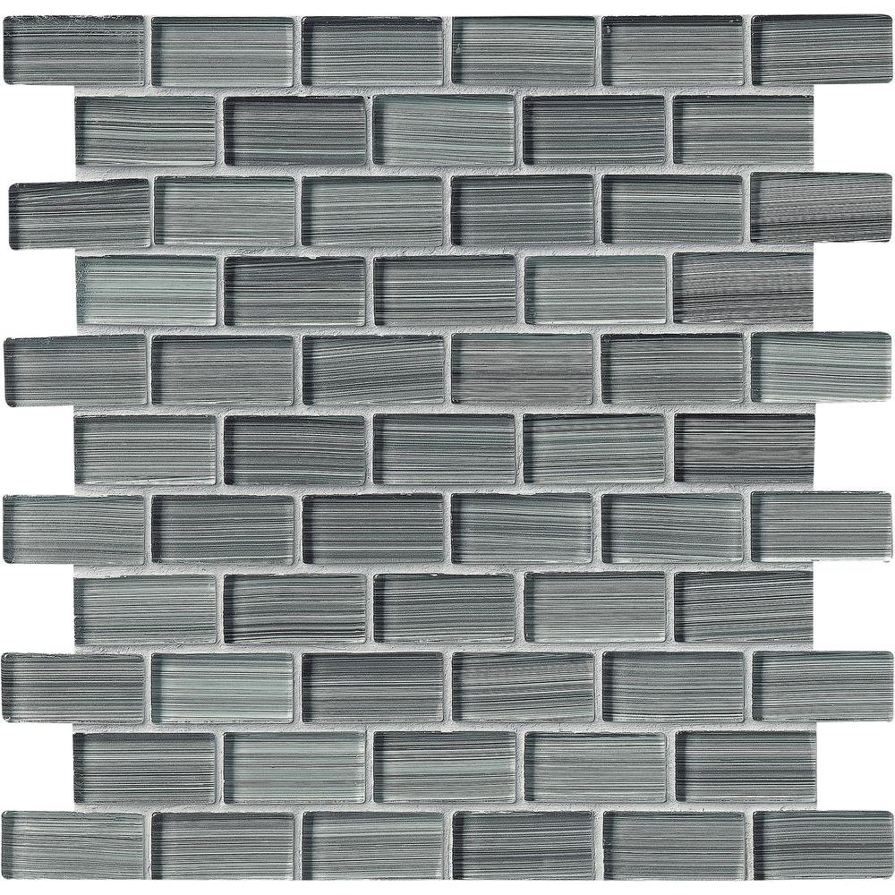 Ms international winter gray 12 in x 12 in x 8 mm glass for Installing glass tile with mesh back