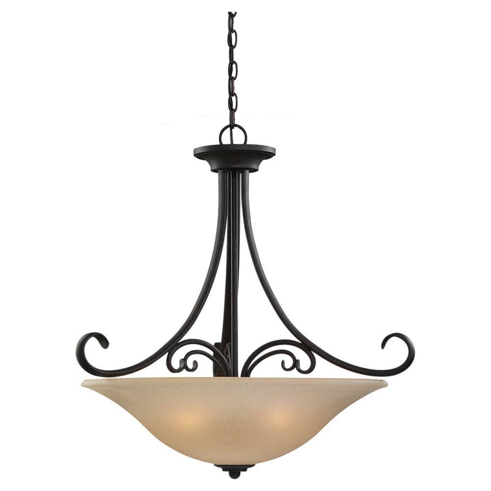Sea Gull Lighting Del Prato 4-Light Chestnut Bronze Pendant