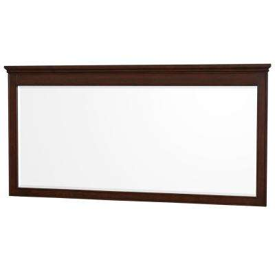 Berkeley 70 in. W x 36 in. H Framed Wall Mirror in Dark Chestnut