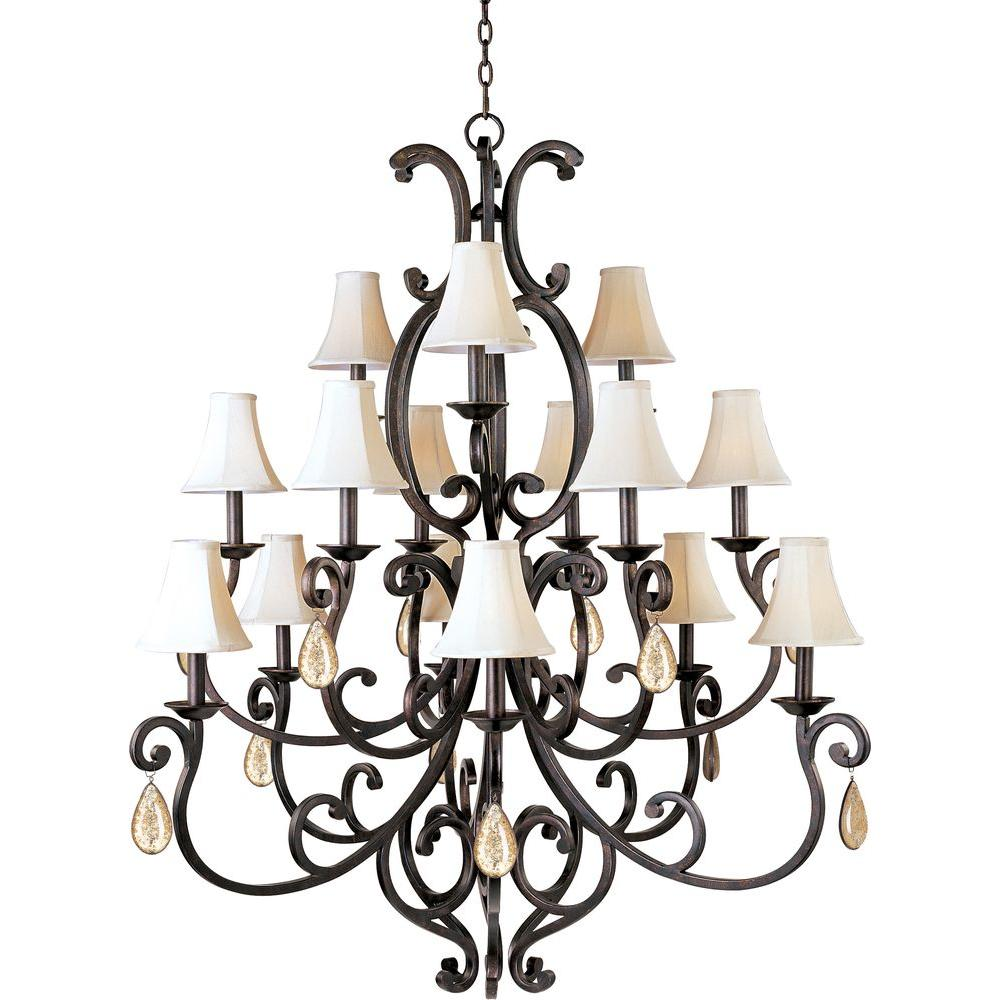 Maxim lighting richmond 15 light colonial umber multi tier maxim lighting richmond 15 light colonial umber multi tier chandelier with shades and crystal mozeypictures Choice Image