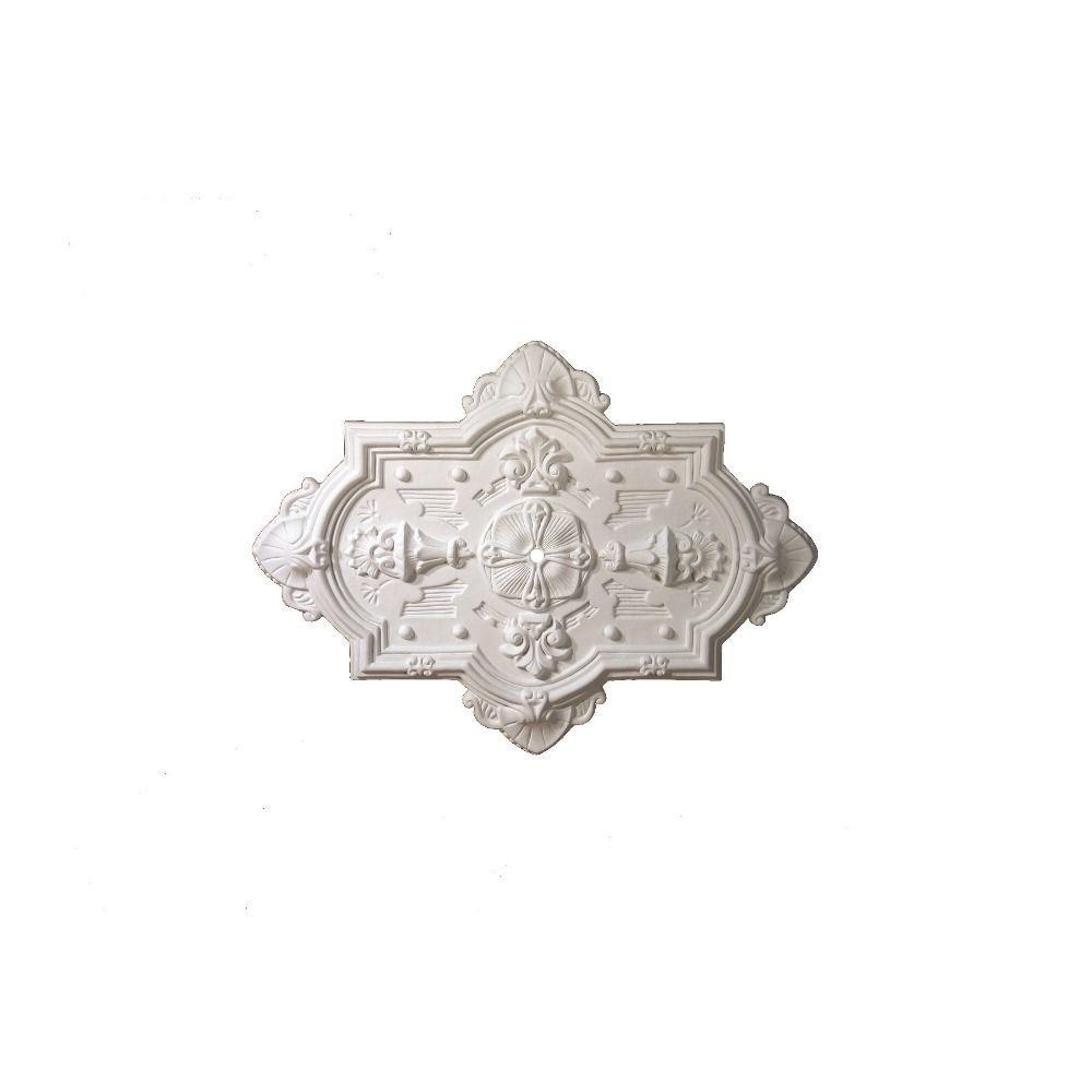 Fypon 38-1/8 in. x 28-5/8 in. x 1-13/16 in. Polyurethane Symmetria Ceiling Medallion (1-Piece)