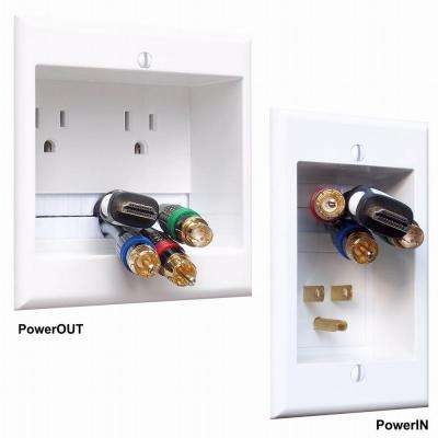 In-Wall Dual Power and Cable Management Kit for Wall Mounted HDTV