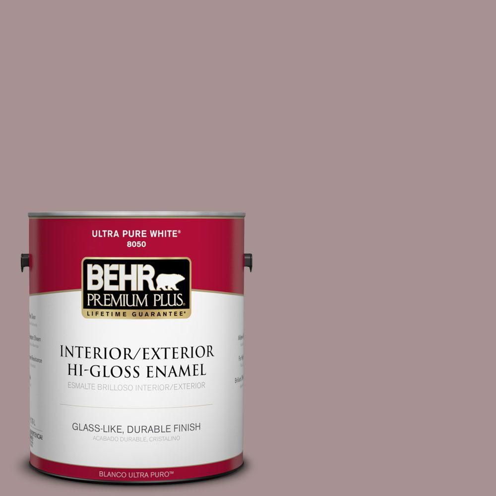 1-gal. #740B-4 Suede Leather Hi-Gloss Enamel Interior/Exterior Paint