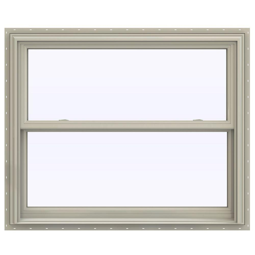 Jeld wen 43 5 in x 40 5 in v 2500 series double hung for Jeld wen windows