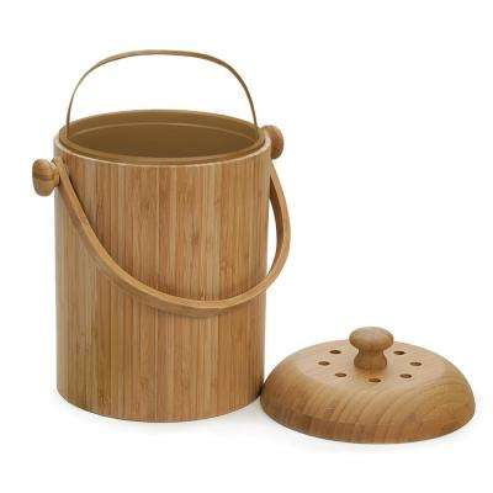 3-1/4 Qt. Bamboo Compost Pail