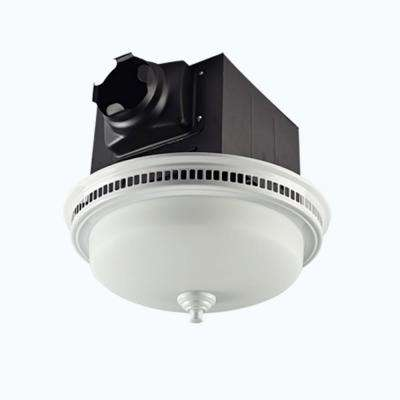 Decorative White 110 CFM Ceiling Bath Fan with Light and Glass Globe