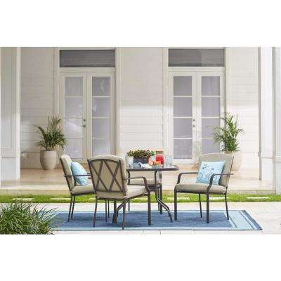 Bradley 5-Piece Outdoor Dining Set with Oatmeal Cushion