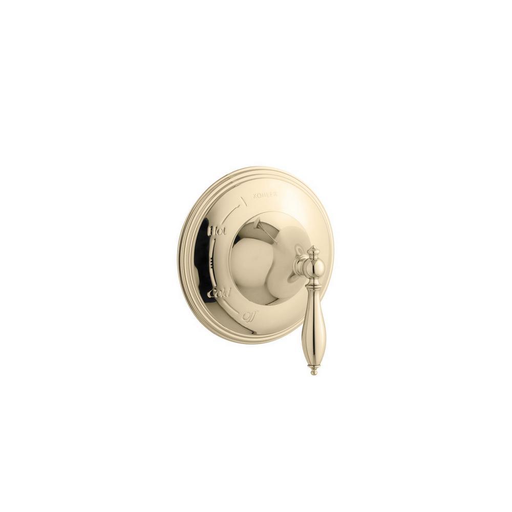 KOHLER K-T309-4M-PB Finial Pressure-Balancing Trim Kit in Vibrant Polished Brass