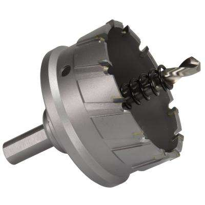 3-1/2 in. Carbide Tipped Hole Cutter with 1 in. D of Cut and Auto Ejecting Slug