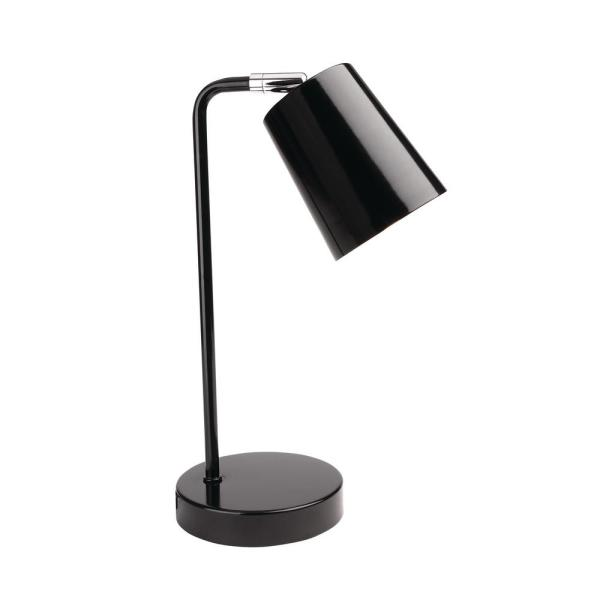 14.5 in. Black Contemporary Desk Lamp with LED Bulb Included