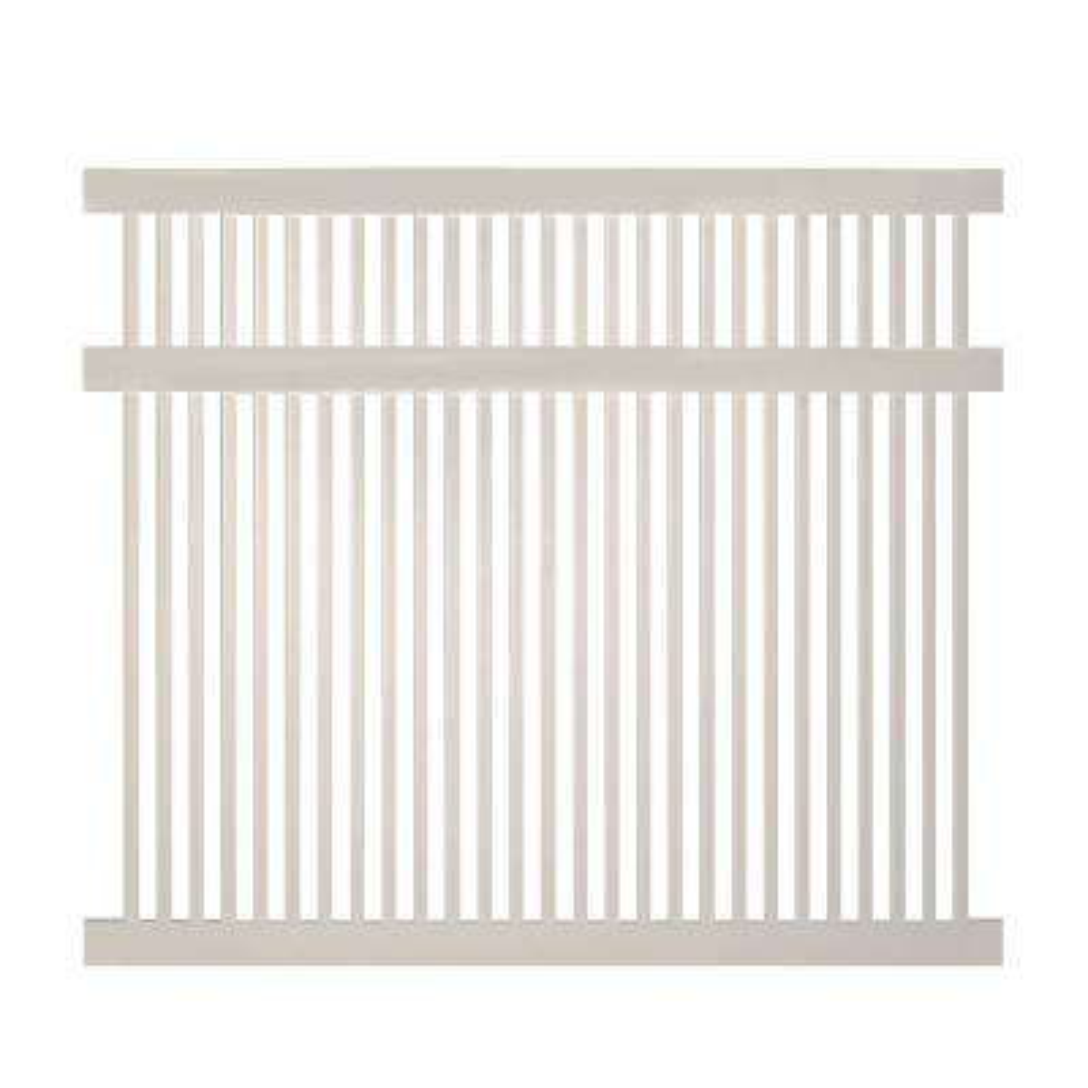 Williamsport 5 ft. H x 6 ft. W Tan Vinyl Pool Fence Panel