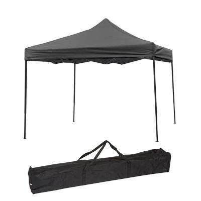 10 ft. x 10 ft. Black Lightweight and Portable Canopy Tent Set