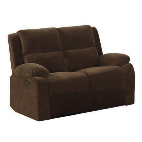 Haven Dark Brown Flannelette Loveseat
