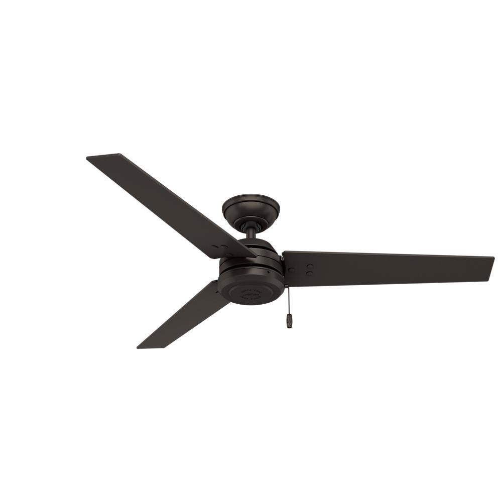 hunter cassius 52 in. indoor/outdoor premier bronze ceiling fan