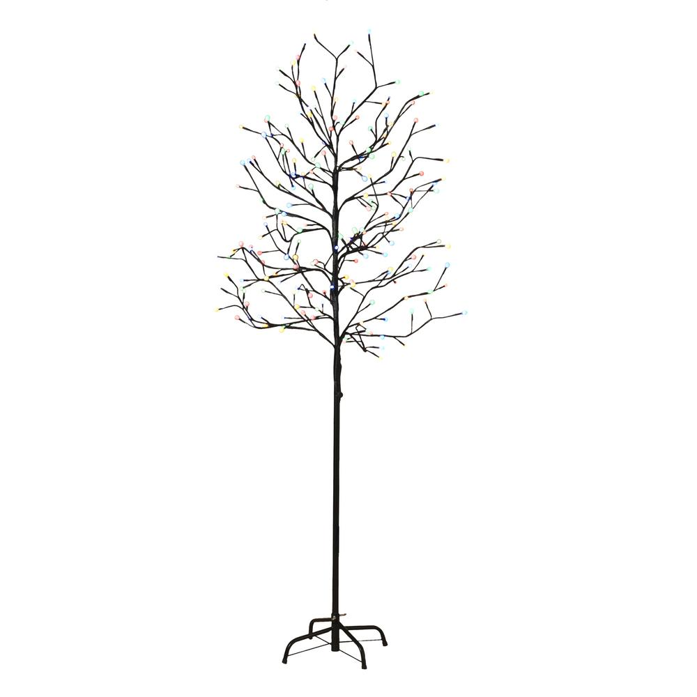 6 ft. City Lights Electric Lighted Artificial Tree