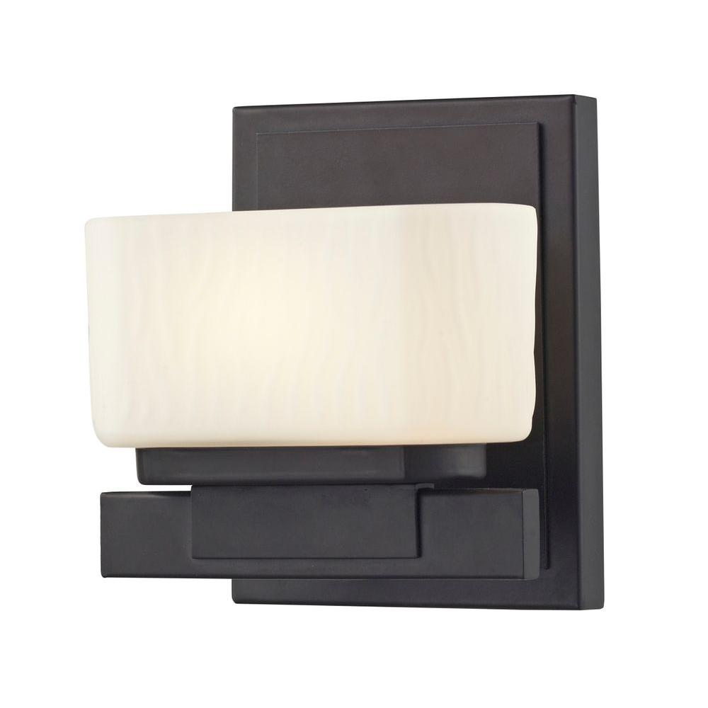 Terra 1-Light Bronze Bath Vanity Light