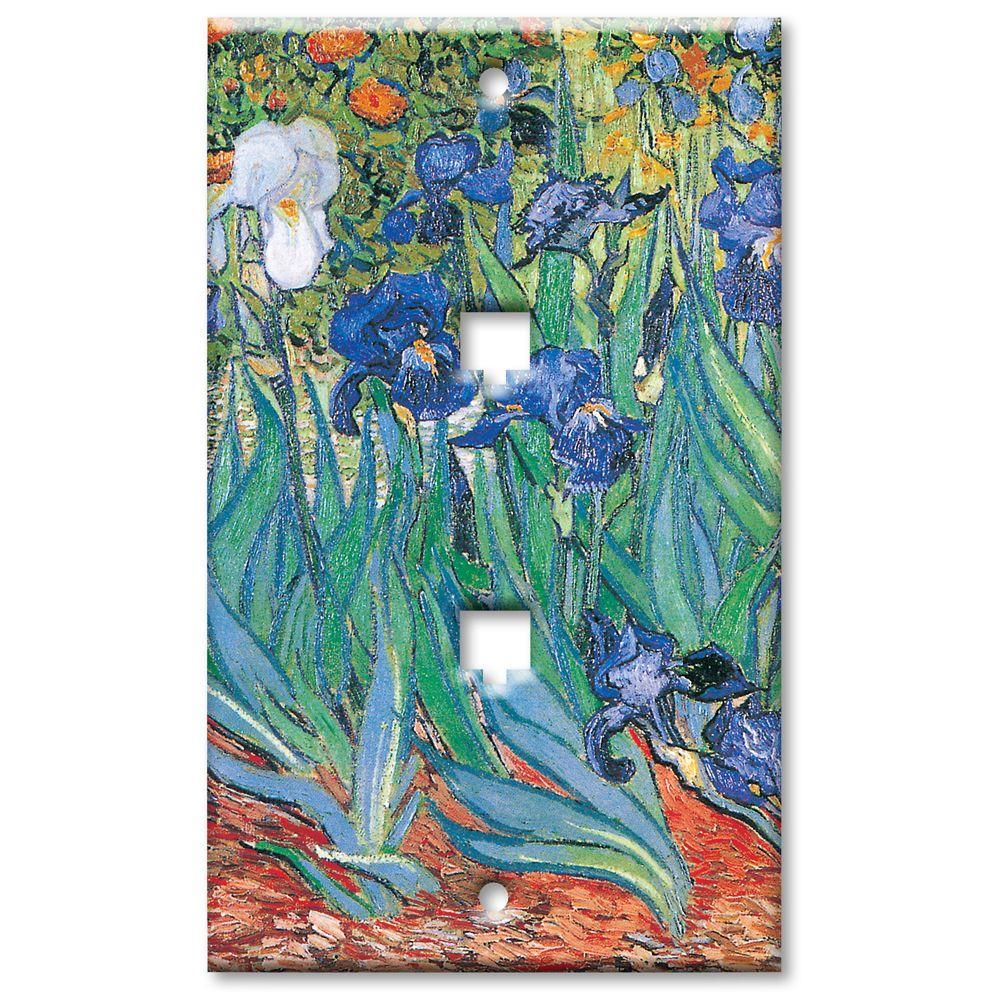 Art Plates Van Gogh Irises 2 Phone Jack Wall Plate