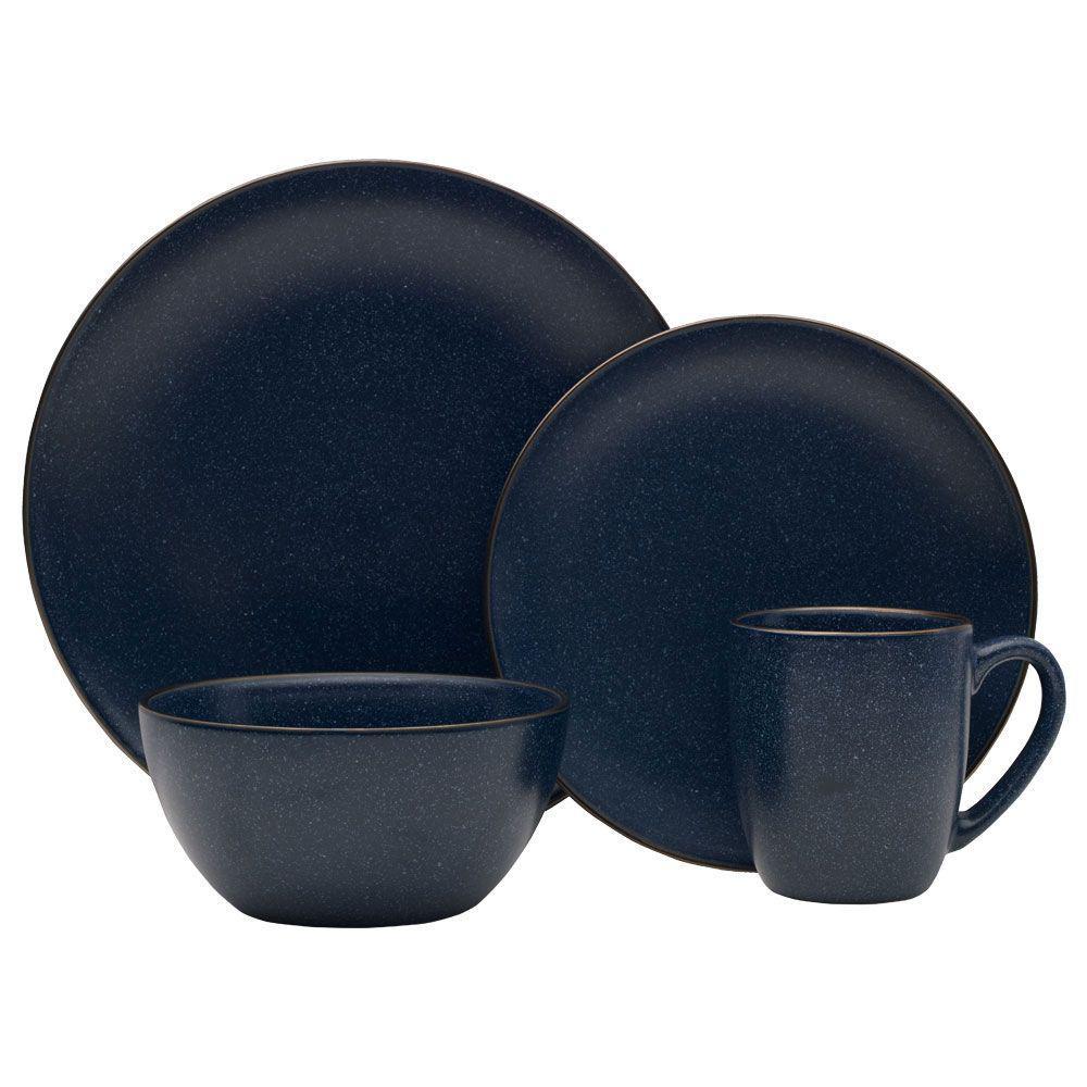 16-Piece Julianna Blue Dinnerware Set