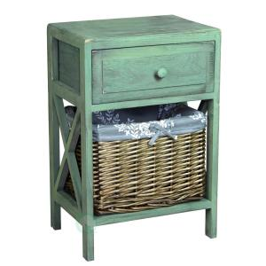 Attractive Internet #300616503. Vintiquewise Distressed Green Wash End Table
