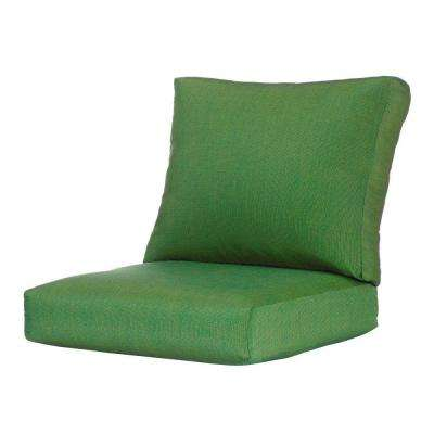 25 x 24 Outdoor Lounge Chair Cushion in Sunbrella Emerald