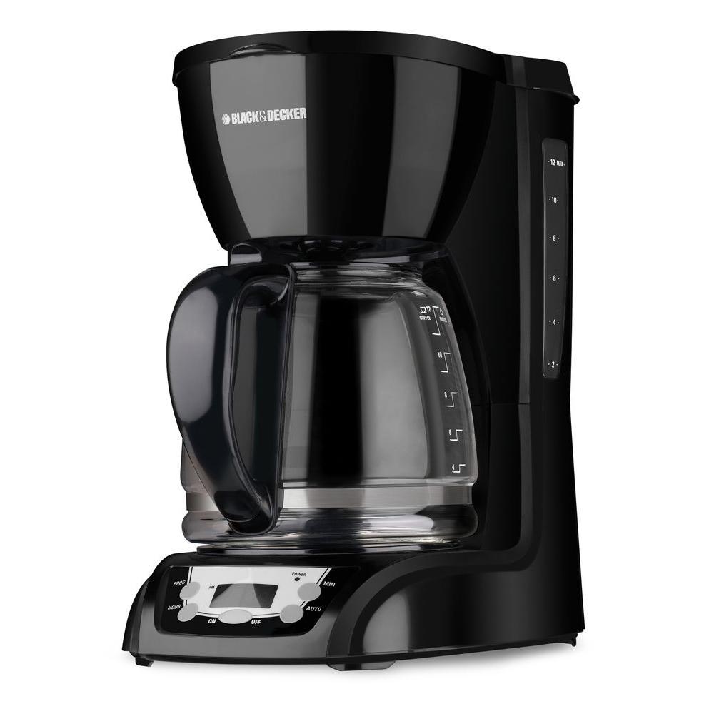 BLACK+DECKER 12-Cup Programmable Coffeemaker, Black-DISCONTINUED