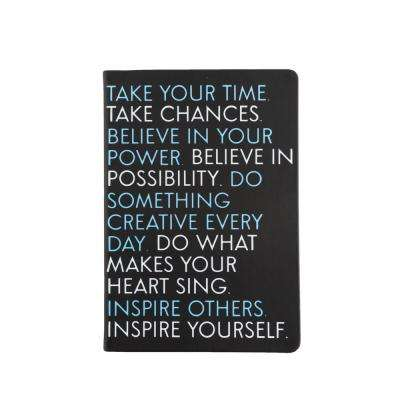 6 in. x 8 in. Inspire Yourself Style Journal, Black
