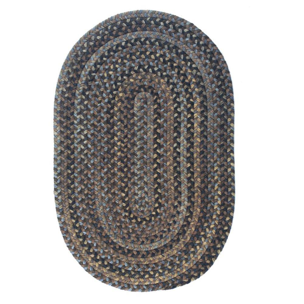 Cage Cashew 10 ft. x 13 ft. Oval Braided Area Rug