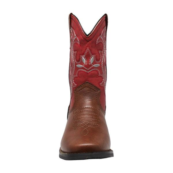 AdTec Girls Size 11 Red/Brown Faux