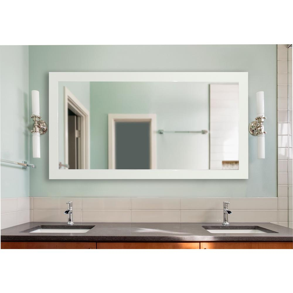 70 in. x 35 in. Delta White Double Vanity Mirror