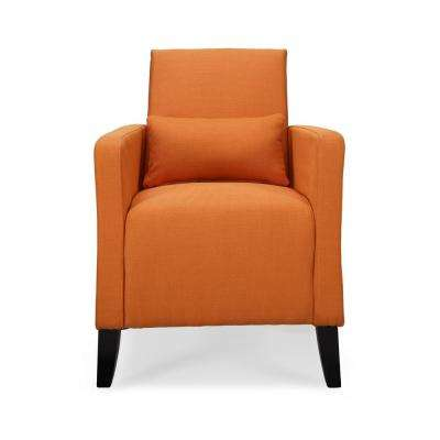 Flare Safron Polyester with Pillow Arm Chair