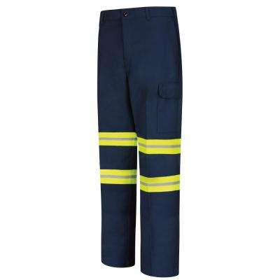 Men's 30 in. x 28 in. Navy Enhanced Visibility Industrial Cargo Pant