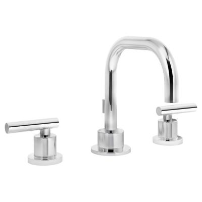 Modern 8 in. Widespread 2-Handle Bathroom Faucet with Pop-Up Drain Assembly in Chrome