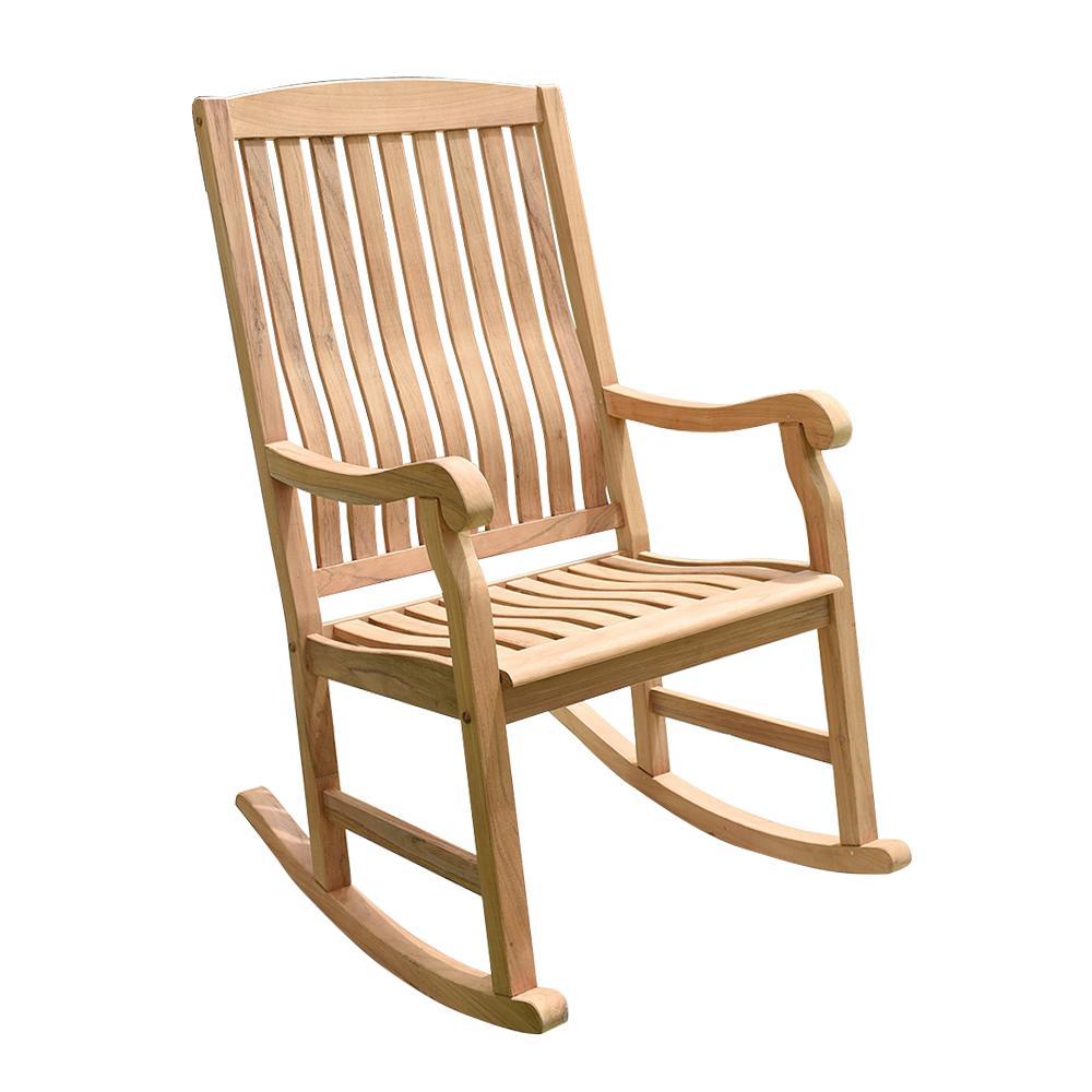 Safavieh Shasta Teak Wood Outdoor Rocking Chair Pat7002a The Home