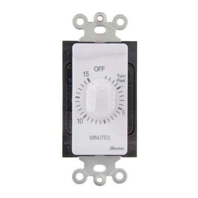 15 Min In-Wall Countdown Timer - White