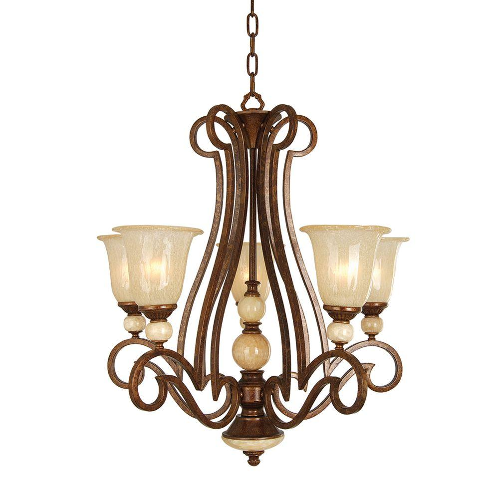 Yosemite Home Decor Alina Collection 5-Light 34 in. Hanging Chandelier-DISCONTINUED