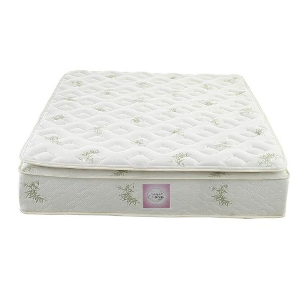 Oasis King Size 13 In Independently Encased Coil Pillow Top Mattress With Certipur Us Certified Foam