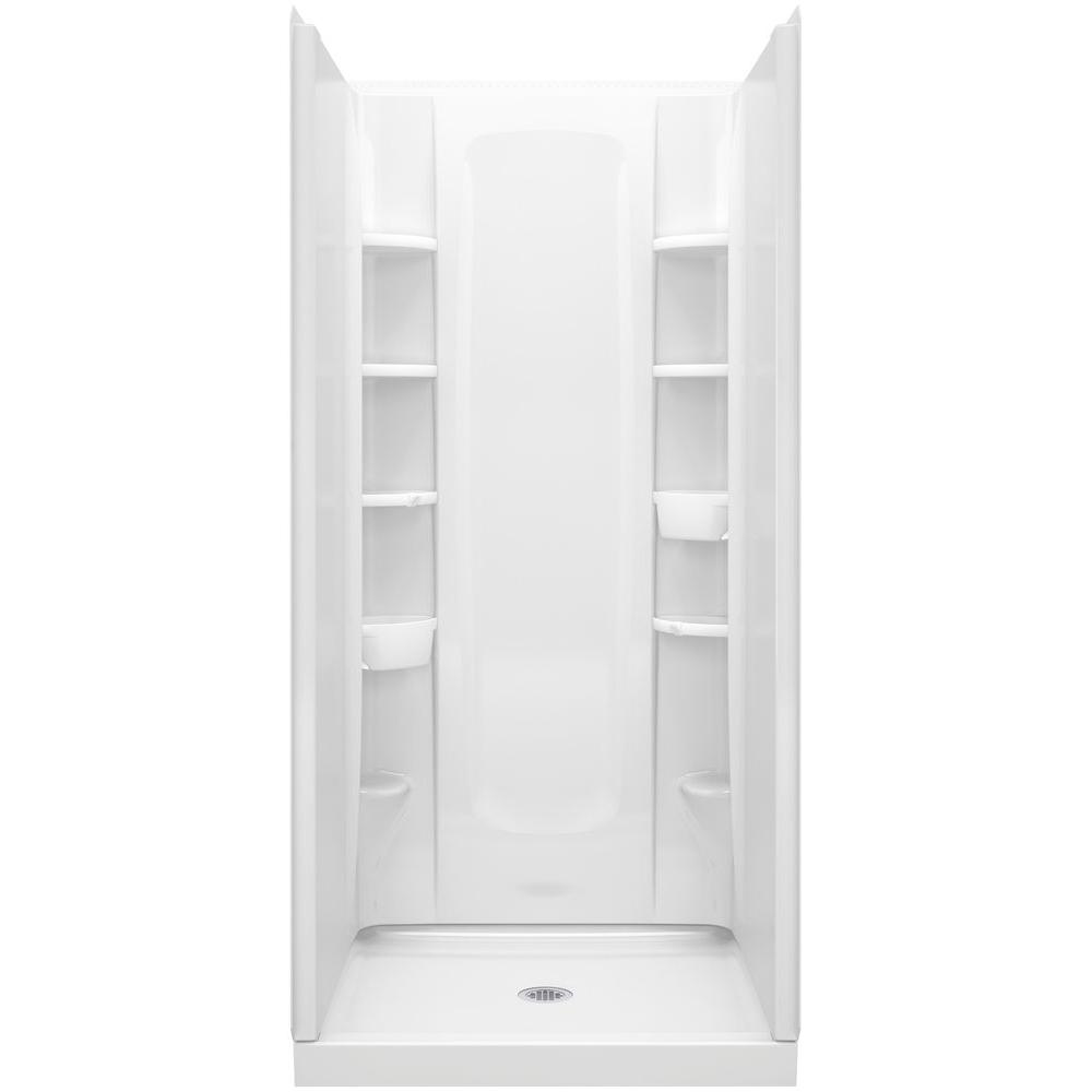 STERLING 34 in. x 36 in. x 72-1/2 in. 4-Piece Shower Stall with ...