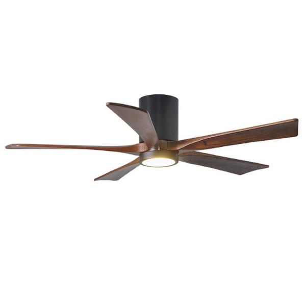 Irene 52 in. LED Indoor/Outdoor Damp Matte Black Ceiling Fan with Light with Remote Control and Wall Control