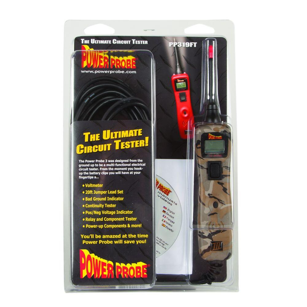 House Circuit Tester : Power probe circuit tester camo pp cscamo the home depot