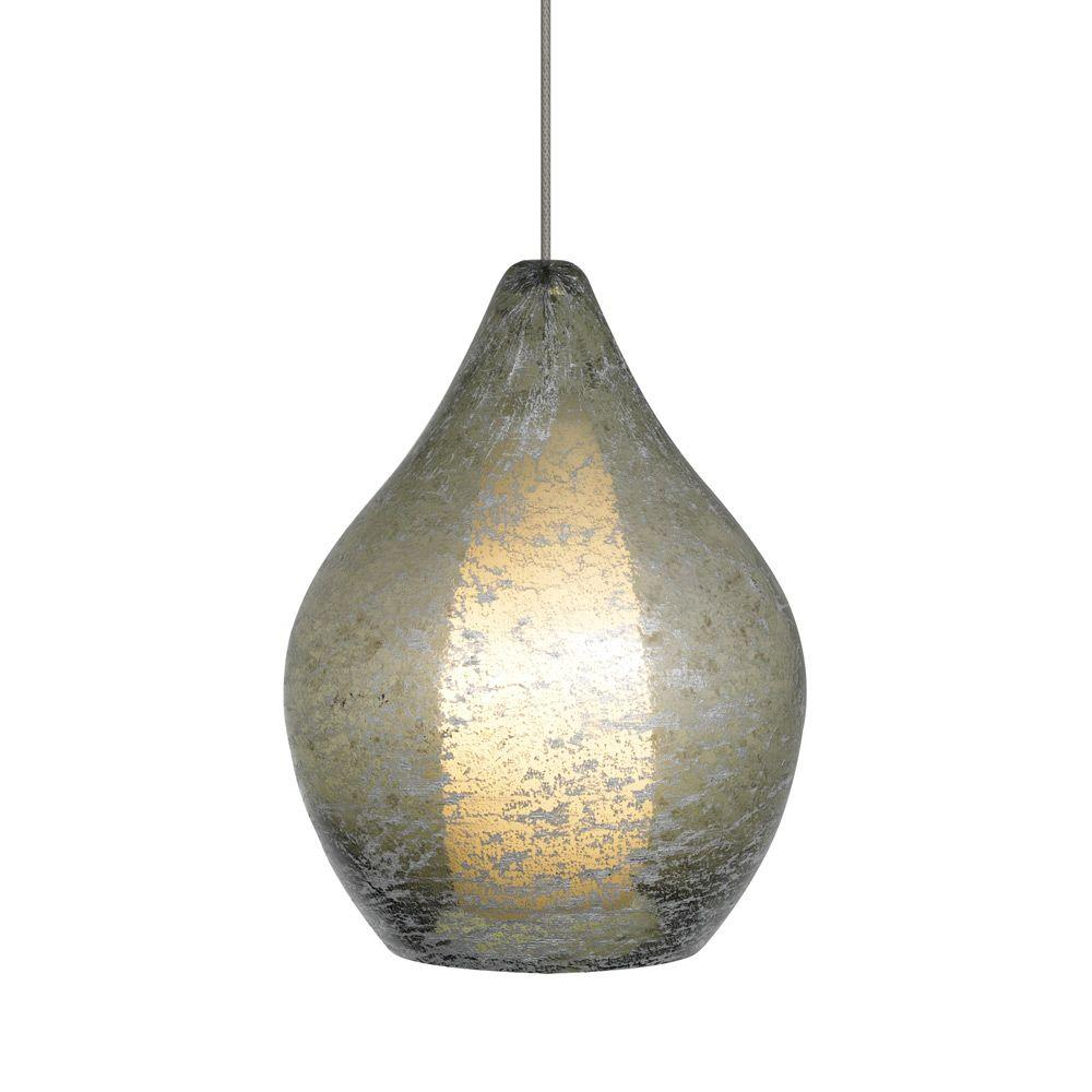 LBL Lighting Relic No. 2 - 1-Light Bronze Xenon Mini Pendant with Green Shade