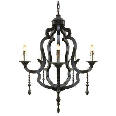 5-Light Black Chandelier